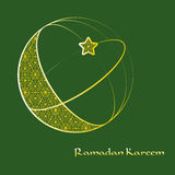 Ramadan Kareem kartka z pozdrowieniami Fotografia Stock