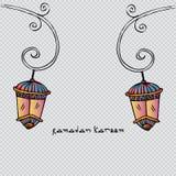 Ramadan Kareem with lamp Royalty Free Stock Image
