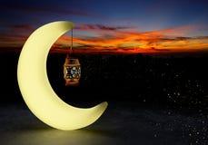 Ramadan kareem lantaarns, het 3d teruggeven Stock Illustratie