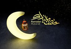 Ramadan kareem lantaarns, het 3d teruggeven stock afbeelding