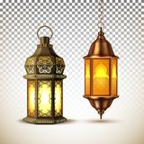 Vector ramadan kareem lamp lantern realistic vector illustration
