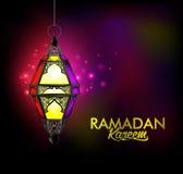 Ramadan Kareem Lantern elegante hermoso o Fanous stock de ilustración