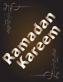 Ramadan Kareem. lettering composition of muslim holy month. Stock Photography