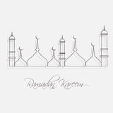 Ramadan Kareem line mosque  design Stock Image