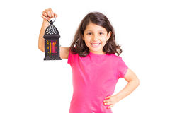 Ramadan Kareem - lycklig ung flicka i Ramadan fotografering för bildbyråer