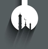 Ramadan kareem mosque card for Religious background Royalty Free Stock Image