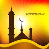 Ramadan kareem mosque card for Religious Royalty Free Stock Photography