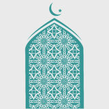 Ramadan Kareem Mosque  Geometric Pattern eps 10 Royalty Free Stock Image