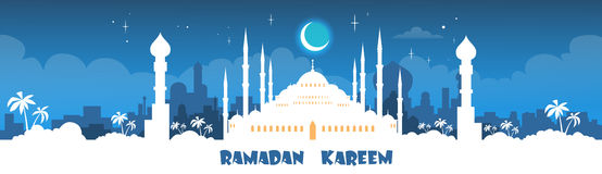 Ramadan Kareem Muslim Religion Holy Month Banner royalty free illustration