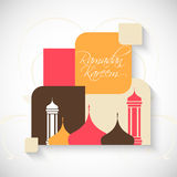 Ramadan Kareem. Nice and beautiful abstract for Ramadan Kareem with nice and creative illustration in a background vector illustration