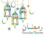 ramadan kareem också vektor för coreldrawillustration Fotografering för Bildbyråer