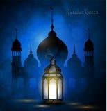 Ramadan Kareem, powitania tło Zdjęcia Stock