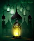 Ramadan Kareem, powitania tło Obrazy Stock