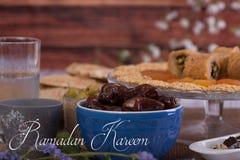 Ramadan Kareem powitanie Fotografia Stock