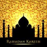 Ramadan Kareem powitanie na zamazanym tle z piękną iluminującą arabską lampową Wektorową ilustracją Fotografia Royalty Free