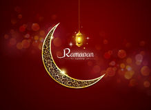 Ramadan kareem, ramadhan. With lamp no mesh object vector illustration vector illustration