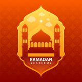 Ramadan kareem on red abstract background vector illustration