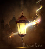 Ramadan Kareem, saluant le fond Photo libre de droits