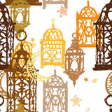 Ramadan Kareem Seamless Vector Pattern Fotos de archivo libres de regalías