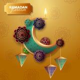 Ramadan Kareem semestrar illustrationen f?r begreppsbanervektorn royaltyfri illustrationer
