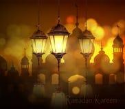Ramadan Kareem som hälsar bakgrund Arkivbilder