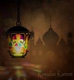 Ramadan Kareem som hälsar bakgrund Arkivbild
