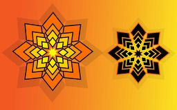 Ramadan Kareem Special Yellow und hintere Verzierung stock abbildung