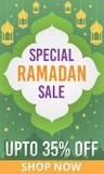 Ramadan Kareem sprzedaży sztandar Obraz Royalty Free