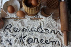 Ramadan Kareem. And Ramadan sweets royalty free stock photos