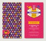 Ramadan Kareem two sides poster Royalty Free Stock Images