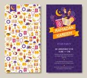 Ramadan Kareem two sides poster Royalty Free Stock Photography