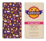 Ramadan Kareem two sides poster Royalty Free Stock Photo