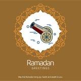 Ramadan Kareem-Vektorhintergrund Kalligraphiegrußkarte desi Stockbilder