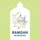 Ramadan Kareem-Vektorhintergrund Kalligraphiegrußkarte desi Lizenzfreie Stockfotografie