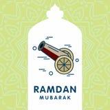 Ramadan Kareem-Vektorhintergrund Kalligraphiegrußkarte desi Stockfotos