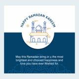 Ramadan Kareem-Vektorhintergrund Kalligraphiegrußkarte desi Stockbild