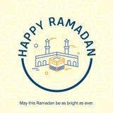 Ramadan Kareem-Vektorhintergrund Kalligraphiegrußkarte desi Lizenzfreies Stockbild