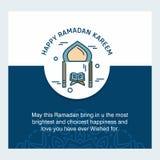 Ramadan Kareem-Vektorhintergrund Kalligraphiegrußkarte desi Lizenzfreie Stockbilder