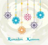 Ramadan Kareem White Background, conception de la meilleure qualité Illustration Libre de Droits