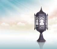 Ramadan Lamp Greeting Concept with Clipping Path Stock Photos