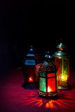 Ramadan Lantern. On a black background Royalty Free Stock Images