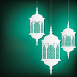 Ramadan. Lantern card in vector format royalty free illustration