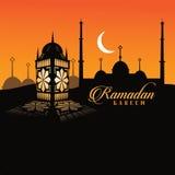 Ramadan lantern design. Royalty Free Stock Images