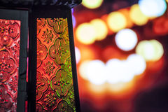 Ramadan Lantern. Egyptian lantern on bokeh light Stock Photography