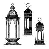 Ramadan lantern , fanous. Ramadan lantern . etching vector drawing Stock Photos
