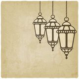 Ramadan lantern old background. Vector illustration. eps 10 stock illustration