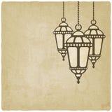 Ramadan lantern old background Royalty Free Stock Photography