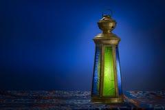 Ramadan Lantern over Blue Royalty Free Stock Photo
