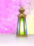Ramadan Lantern Over Defocused Lights