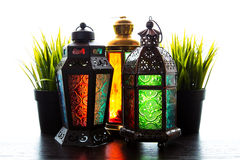 Ramadan Lantern. Traditional Ramadan Lantern on White Background Stock Images